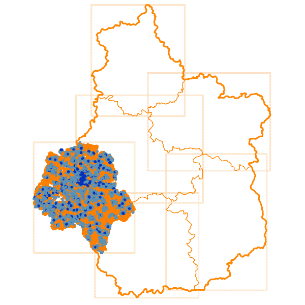 Carto des Débits Internet descendants en Indre-et-Loire - D37