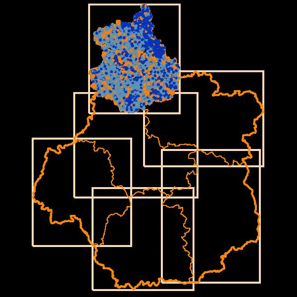 Carto des Débits Internet descendants en Eure-et-Loir - D28