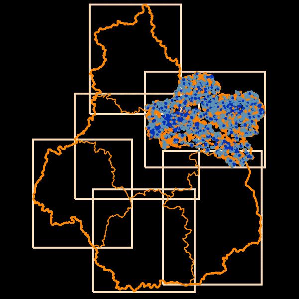 Carto des Débits Internet descendants en Loiret - D45