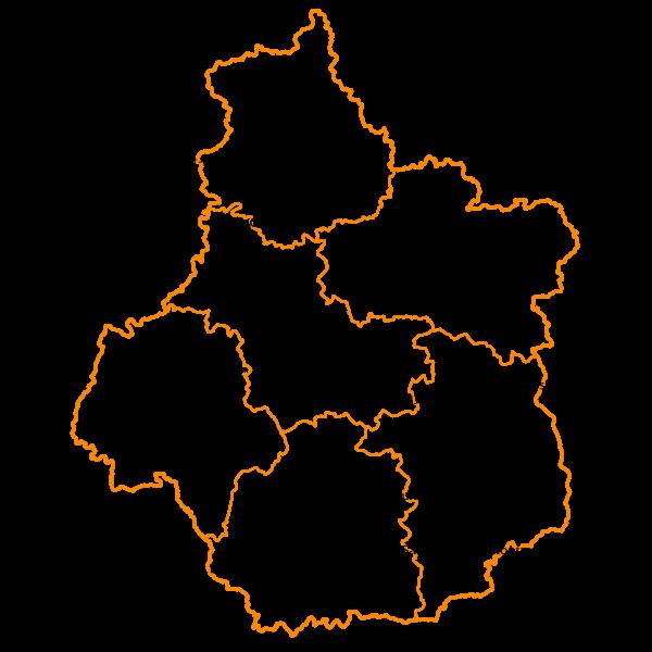 Carte de synthèse du déploiement FTTH en région Centre-Val de Loire en 2019