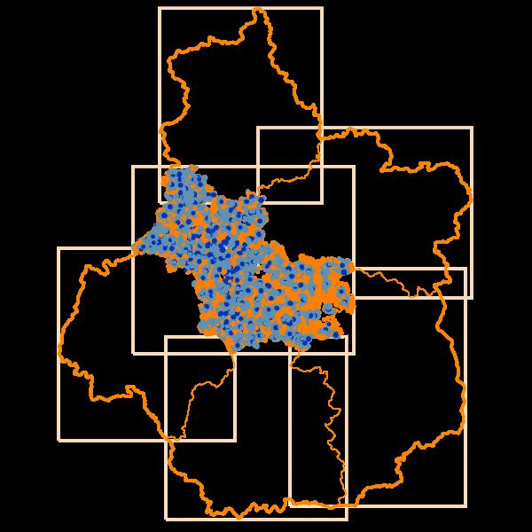 Carto des Débits Internet descendants en Loir-et-Cher - D41
